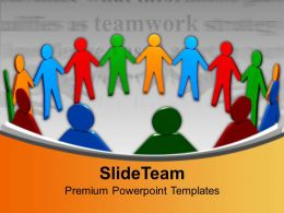 United People Teamwork Concept Powerpoint Templates Ppt Backgrounds For Slides 0113