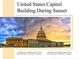 United States Capitol Building During Sunset