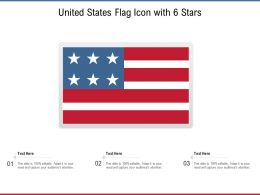United States Flag Icon With 6 Stars