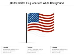 United States Flag Icon With White Background