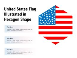 United States Flag Illustrated In Hexagon Shape