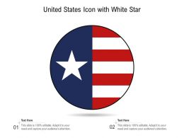 United States Icon With White Star