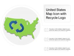 United States Map Icon With Recycle Logo