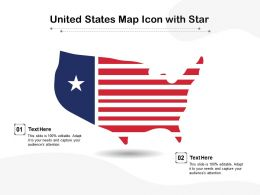 United States Map Icon With Star