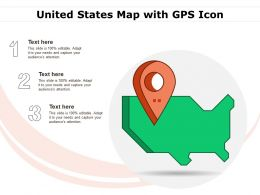 United States Map With GPS Icon