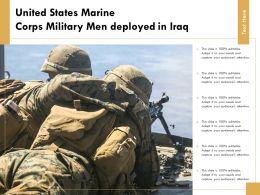 United States Marine Corps Military Men Deployed In Iraq