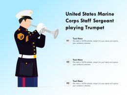 United States Marine Corps Staff Sergeant Playing Trumpet