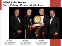 United States Marine Corps Veteran Conferred With Award
