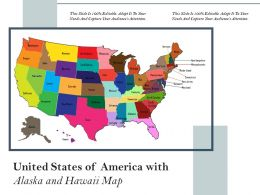 United States Of America With Alaska And Hawaii Map