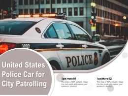 United States Police Car For City Patrolling