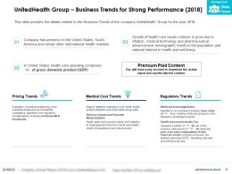 UnitedHealth Group Business Trends For Strong Performance 2018