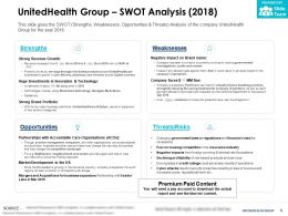 UnitedHealth Group Swot Analysis 2018