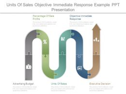 Units Of Sales Objective Immediate Response Example Ppt Presentation