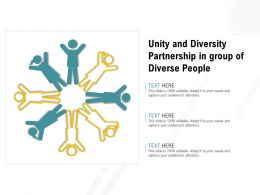 Unity And Diversity Partnership In Group Of Diverse People