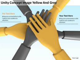 Unity Concept Image Yellow And Grey Ppt Graphics Icons PowerPoint