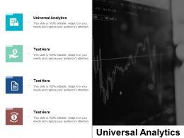 Universal Analytics Ppt Powerpoint Presentation Pictures Master Slide Cpb