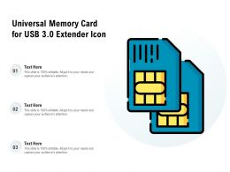 Universal Memory Card For Usb 3 0 Extender Icon