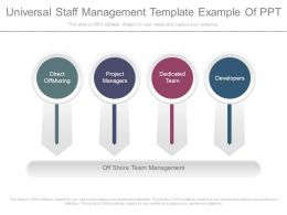 Universal Staff Management Template Example Of Ppt