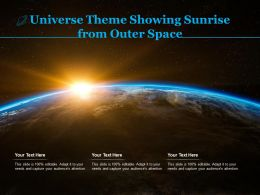 Universe Theme Showing Sunrise From Outer Space