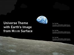 Universe Theme With Earths Image From Moon Surface