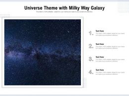 Universe Theme With Milky Way Galaxy