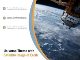 Universe Theme With Satellite Image Of Earth