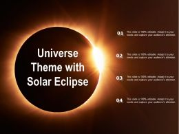 Universe Theme With Solar Eclipse
