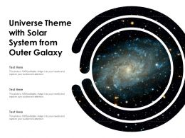 Universe Theme With Solar System From Outer Galaxy