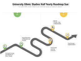 University Ethnic Studies Half Yearly Roadmap Sue