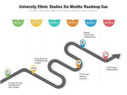 University Ethnic Studies Six Months Roadmap Sue