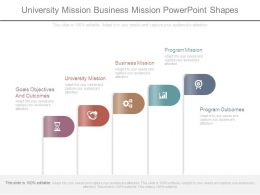 University Mission Business Mission Powerpoint Shapes