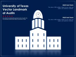 University Of Texas Vector Landmark At Austin Powerpoint Template