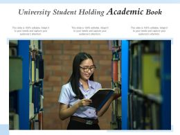 University Student Holding Academic Book