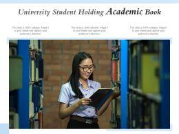 University Student Holding Academic Book