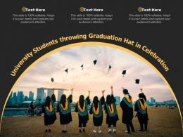 University Students Throwing Graduation Hat In Celebration