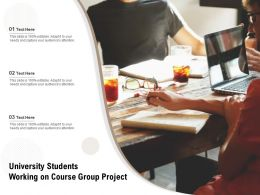 University Students Working On Course Group Project