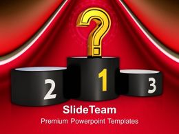 Unknown Winner On Podium Powerpoint Templates Ppt Themes And Graphics 0213