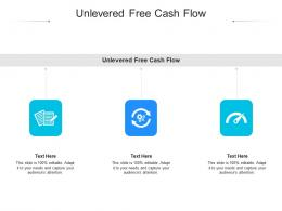 Unlevered Free Cash Flow Ppt Powerpoint Presentation Outline Objects Cpb