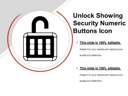 Unlock Showing Security Numeric Buttons Icon