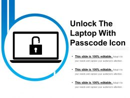 Unlock The Laptop With Passcode Icon