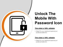 Unlock The Mobile With Password Icon