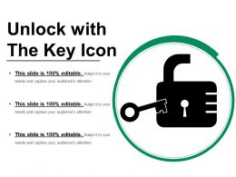 Unlock With The Key Icon