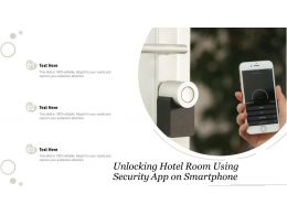 Unlocking Hotel Room Using Security App On Smartphone