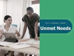Unmet Needs Social Economic Regulatory Solutions Opportunities Business Requirements