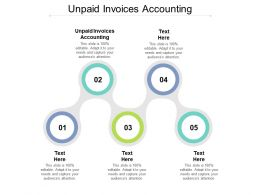 Unpaid Invoices Accounting Ppt Powerpoint Presentation Slides Infographics Cpb