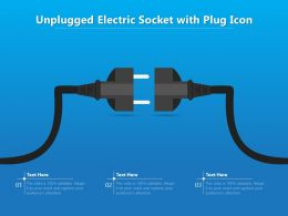 Unplugged Electric Socket With Plug Icon