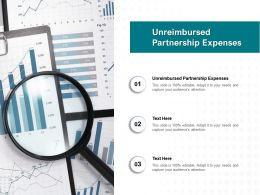 Unreimbursed Partnership Expenses Ppt Powerpoint Presentation Portfolio Background Cpb