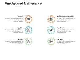 Unscheduled Maintenance Ppt Powerpoint Presentation Icon Good Cpb
