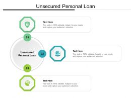 Unsecured Personal Loan Ppt Powerpoint Presentation Model Graphics Pictures Cpb