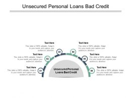 Unsecured Personal Loans Bad Credit Ppt Powerpoint Presentation Pictures Rules Cpb